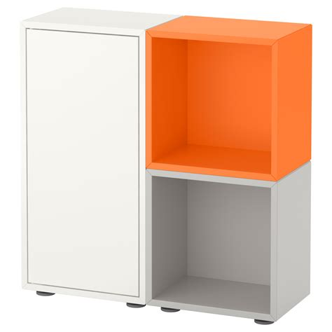 ikea eket cabinet eket cabinet combination with feet white orange light grey