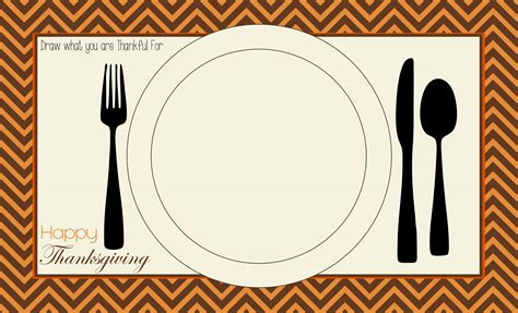 printable placemat thanksgiving placemat table tents and favor tags free