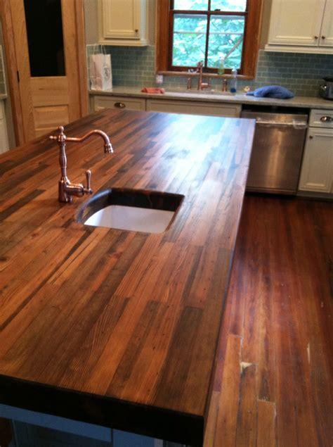 Kitchen Island Countertops heartpine countertop woodology