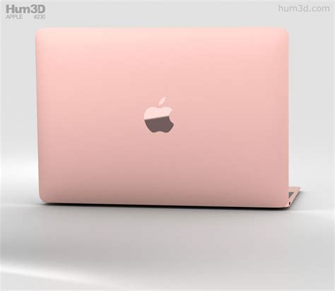 Apple Macbook Mmgm2 Rosegold apple macbook 2017 gold 3d model hum3d