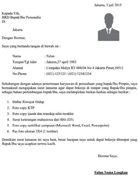 format surat lamaran kerja umum dokumen pekerjaan contoh surat lamaran kerja umum