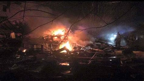 house explosion suspected gas explosion in oklahoma completely destroys house 50 nearby homes damaged