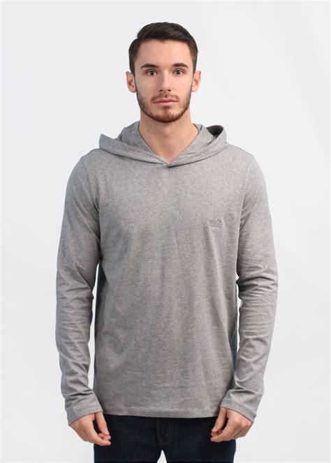 sleeve hooded shirt hugo black hooded sleeve shirt medium grey