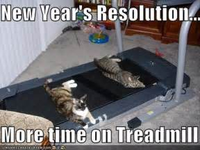 Treadmill Meme - funny new years resolutions more time on the treadmill