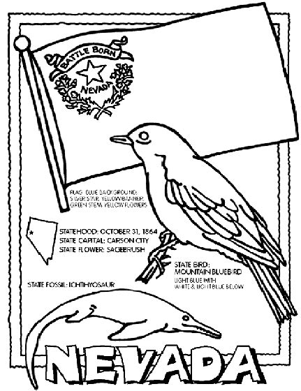 state coloring pages crayola nevada coloring page crayola com