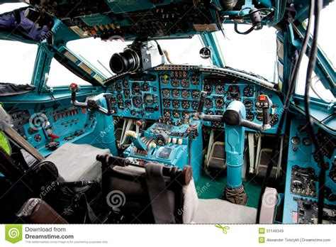 pilot cabin interior stock photo image 51146349