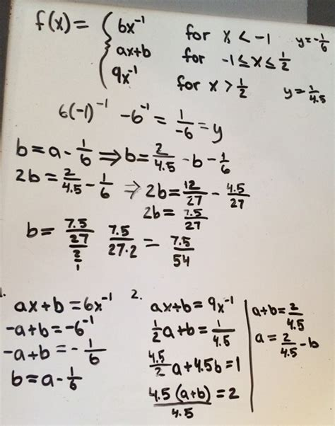 how do you find the value of a boat calculus how do i find the value of a b that makes the