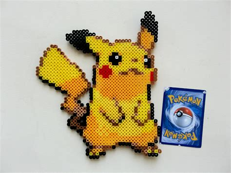 perler pikachu pikachu perler bead ornament decoration decor 5 sprite