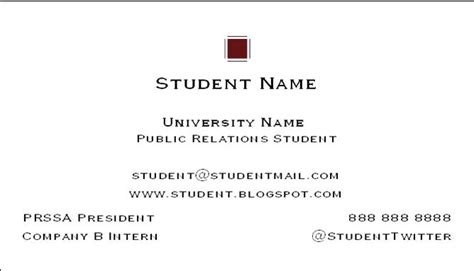 Phd Student Business Card