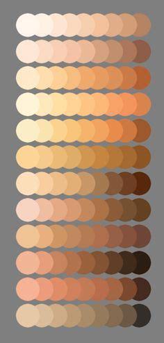 vector skin tone tutorial skin palette for mypaint v2 by meryalisonthompson on