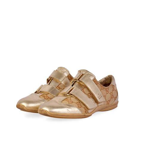 Velcro Sneakers gucci guccissima velcro sneakers metallic gold s 36 3