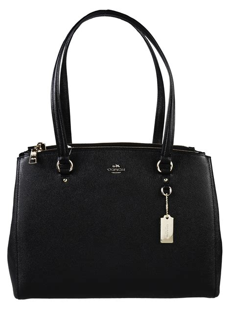 Coach Black Coach Stanton Crossgrain Leather Bag In Black Lyst