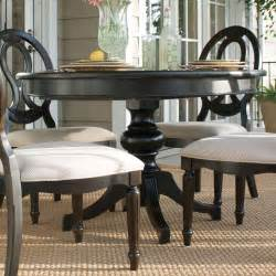 Round Black Dining Room Table by Summer Hill Round Single Pedestal Dining Table Midnight