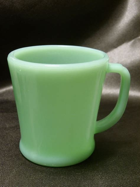 Coffe Green vintage 1950s king oven ware coffee mug in jadeite
