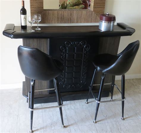 Free Standing Bars And Stools by Reserved Mid Century Modern Retro Black Free Standing Bar