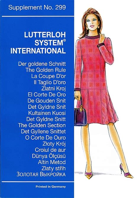 the golden rule pattern making xl and xxl edition sewing patterns lutterloh 299 winter the golden rule