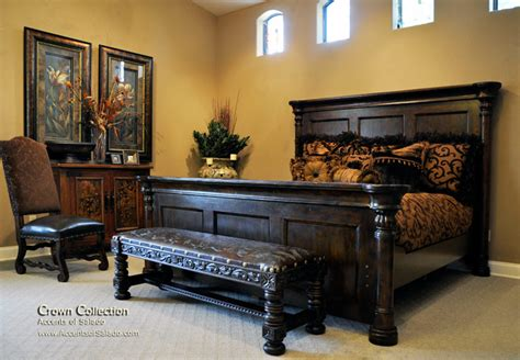 mediterranean bedroom furniture tuscan style bed with high headboard rustic mediterranean