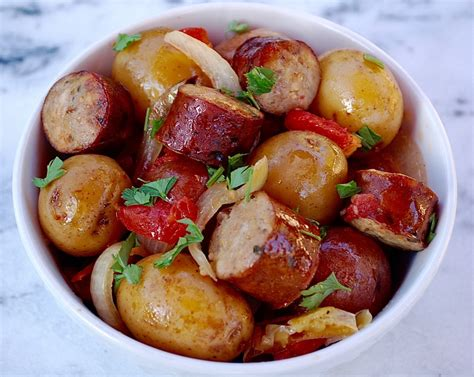 potatos egg slow cooked cooker sausage and potatoes the cooking