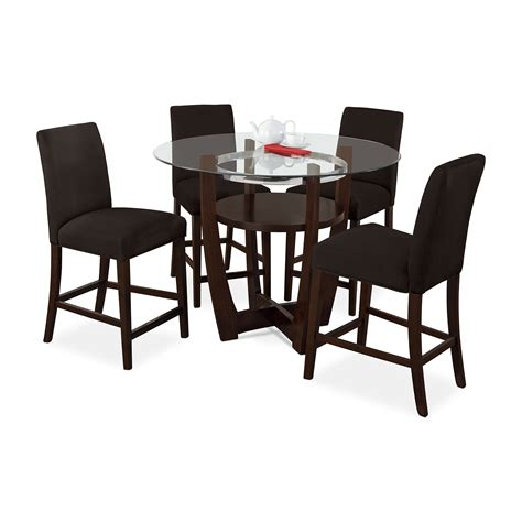 counter height dining room chairs alcove counter height dinette with 4 side chairs