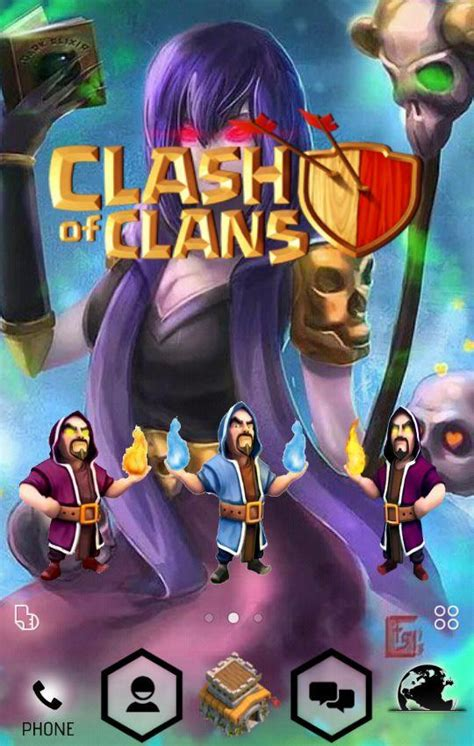 themes lenovo a889 clash of clan theme include all character in coc icons