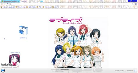 Google Chrome Themes Love Live | love live school idol project chrome theme by