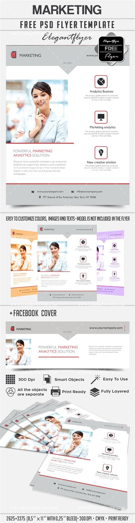 Marketing Flyer Psd Template By Elegantflyer Marketing Flyer Template