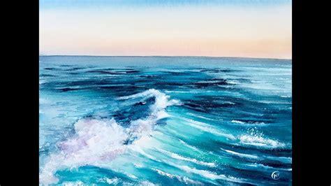 Verditer Blue by Sea Water In Watercolors Painting Tutorial Youtube