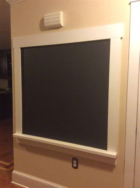 diy chalkboard wall diy framed chalkboard wall chaulk things