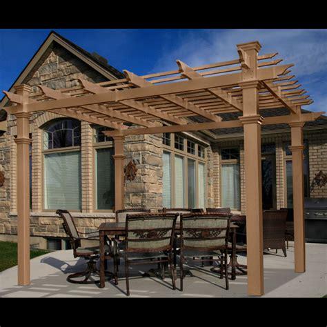 Pergolas For Gardens Outdoor Areas Chadsworth Columns Vinyl Pergola Materials