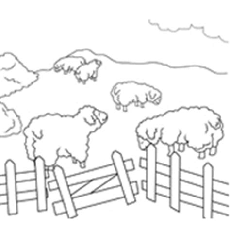 Sheep in a Pen » Coloring Pages » Surfnetkids