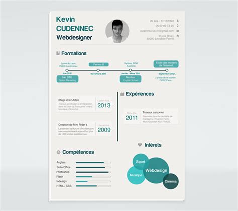 infographic resume template free word 20 best free resume cv templates in ai indesign psd formats
