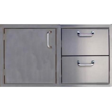 Bbq Doors And Drawers by Pcm Bbq Island 42 226 Door And Drawer Combo Unit Stainless Steel
