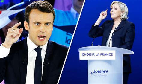 emmanuel macron marine le pen french election support for eu rises in france ahead of