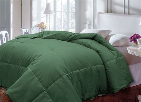 hunter green comforter down alternative comforter