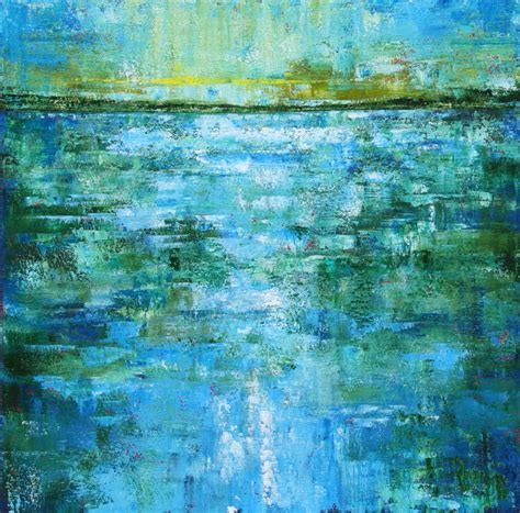 acrylic painting water mountain studio abstract paintings of water a
