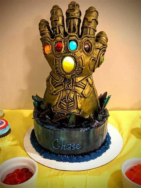 sons infinity gauntlet birthday cake avengers