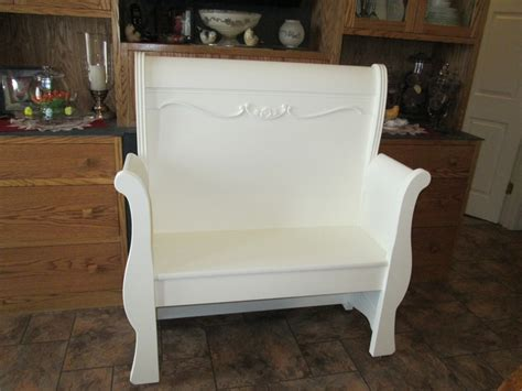 bench made from bed bench made from twin sleigh bed diy pinterest