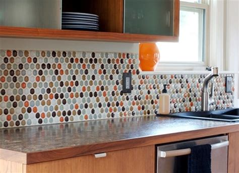 kitchen backsplash colors multi color penny tile backsplash decorating pinterest