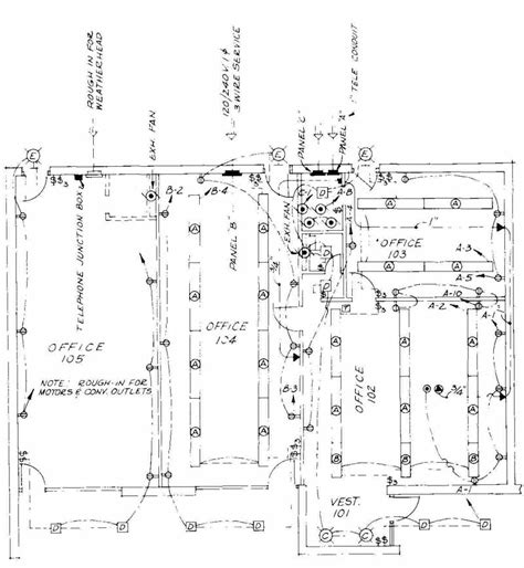 drawing plan electrical drawing for architectural plans