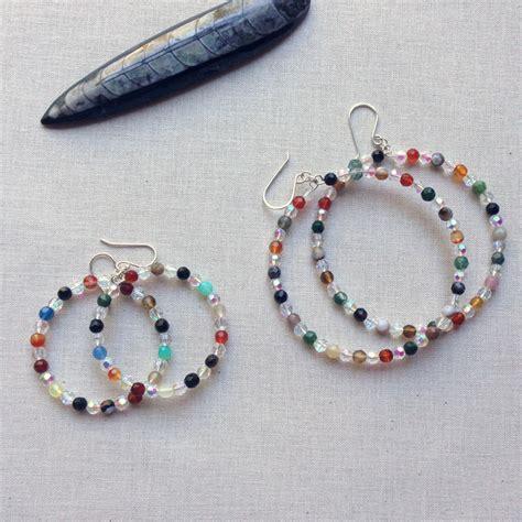 Lisa Yang's Jewelry Blog: How to Make Beaded Memory Wire Hoop Earrings: Free Tutorial