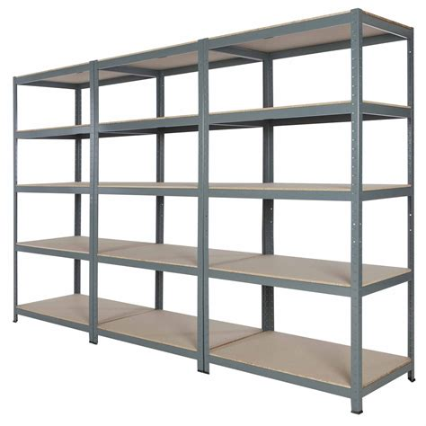 metal garage shelving 10x new garage commercial steel shelving 71 quot hx36 quot wx24 quot d with 5 wood deck shelves ebay