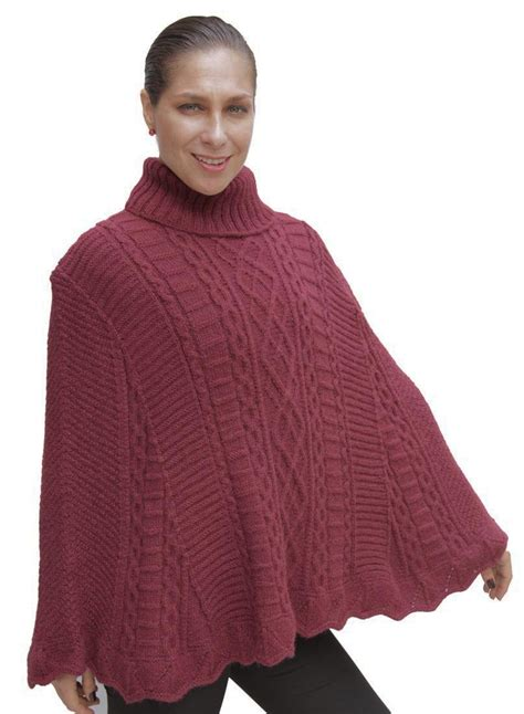 knitted cape poncho superfine alpaca wool knitted poncho cape wrap one