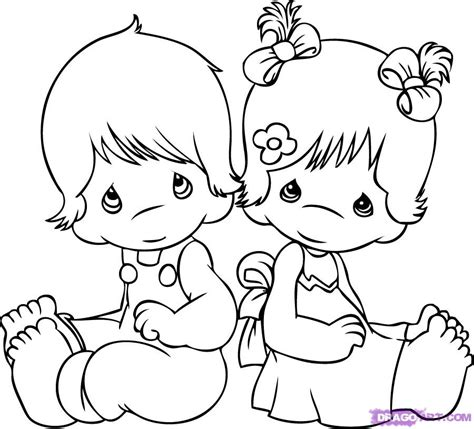 How To Draw Precious Moments Step By Step Characters Pop Precious Moments Boy Coloring Page Free