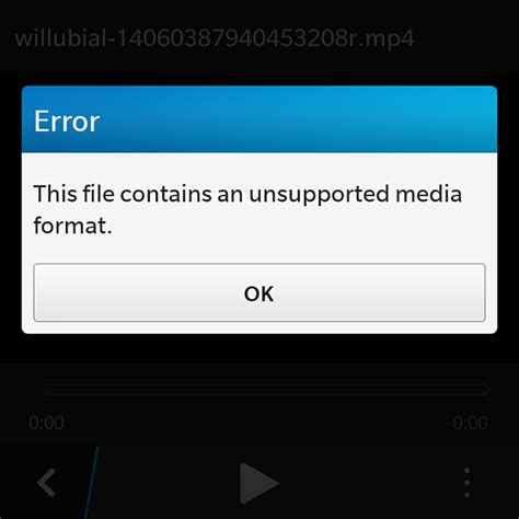 file format unsupported official snap2chat native snapchat client for blackberry