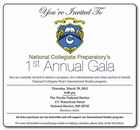 gala invitation card template fundraiser and charity invitation ideas to inspire you