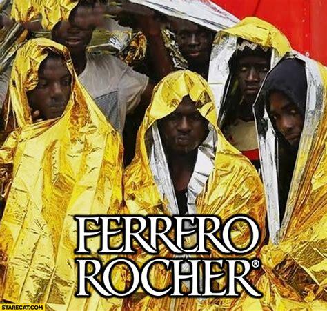 ferrero rocher black men wrapped  thermal blanket