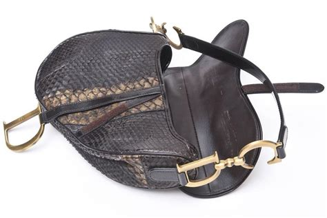 Christian Designer Christian Limited Edition Saddle Bags by Early Limited Edition Galliano For Christian