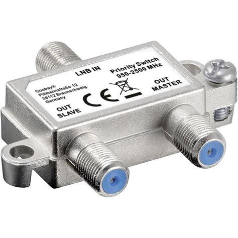 Switch Lnb sat priority switch vorrang schalter verteilt schaltet 1 lnb auf 2 sat receiver im conrad