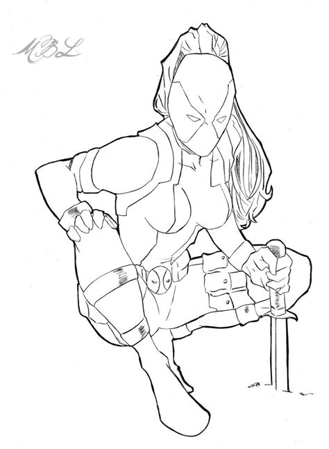 lady deadpool coloring pages deadpool art coloring pages