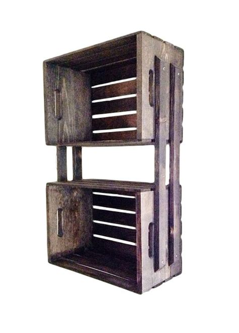 wooden crate shelves 27 best images about wooden crate shelves on